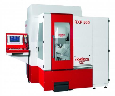 RXP500 Voeding 30.000 m/min in alle assen HF-spindel, HSK 40, 3.000 – 42.000 1/min, 14 kW Gereedschappen 21 – 199 posities, hoofdtijdparallel ingericht